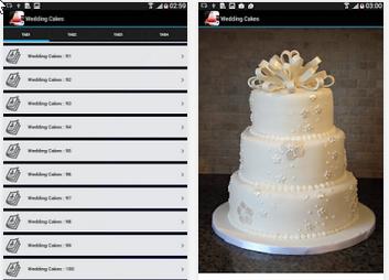 Capture d'écran gâteaux de mariage Idées Android