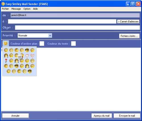Capture d'écran Easy Smiley Mail Sender