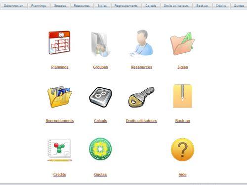 Capture d'écran SQLPlanning