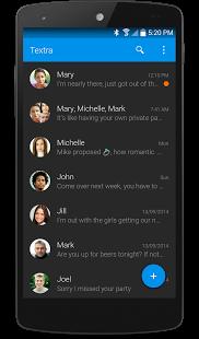 Capture d'écran Textra SMS