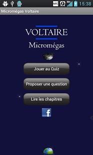 Capture d'écran Micromégas de Voltaire