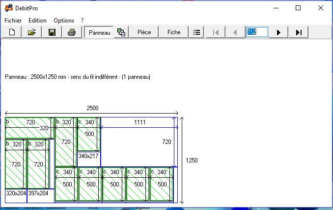 Capture d'écran DebitPro 1.6