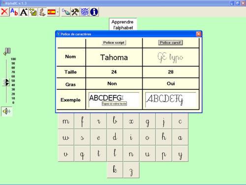 Capture d'écran AlphaBC