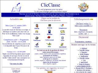 Capture d'écran ClicClasse