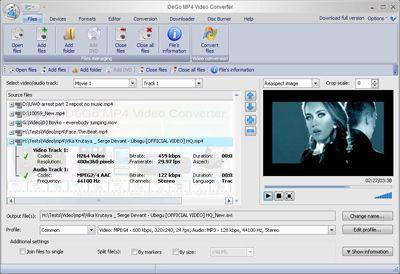 Capture d'écran DeGo Free MP4 Video Converter