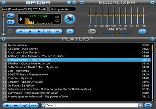 Capture d'écran Spider Player