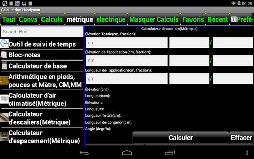 Capture d'écran Calculatrice Handyman