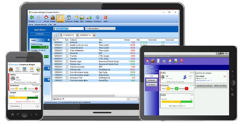 Capture d'écran Comptes et Budget – Linux – MonoCompte Gratuit