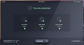 Capture d'écran AVG Antivirus pour Mac