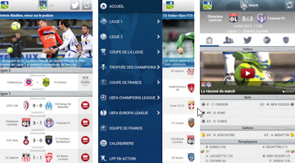 Capture d'écran LFP Android
