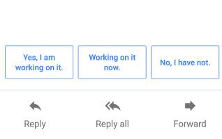 Capture d'écran Smart Reply Android