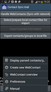 Capture d'écran ContactSync – CardDAV and more
