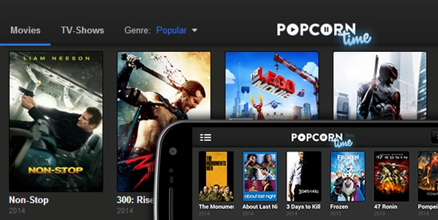 Capture d'écran Popcorn Time iOs Installer