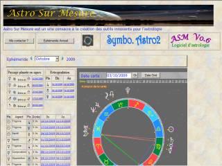Capture d'écran ASM (Astro Sur Mesure)