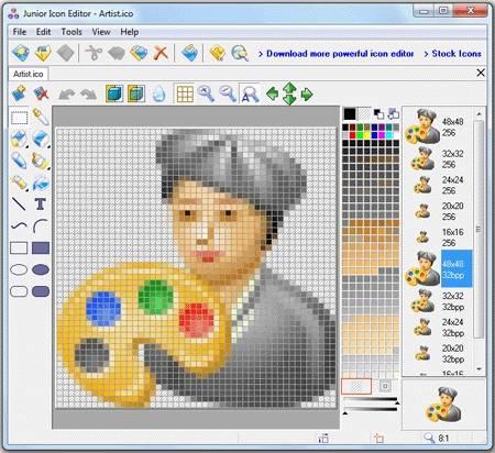 Capture d'écran Junior Icon Editor