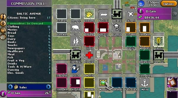 Capture d'écran Monopoly Tycoon