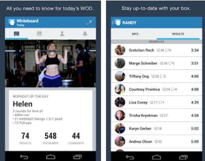 Capture d'écran SugarWOD Android