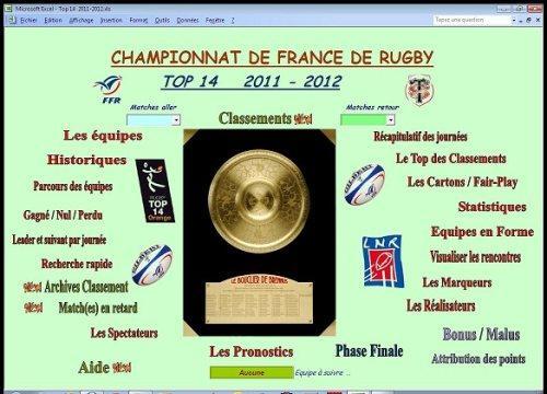 Capture d'écran TOP 14  2011-2012