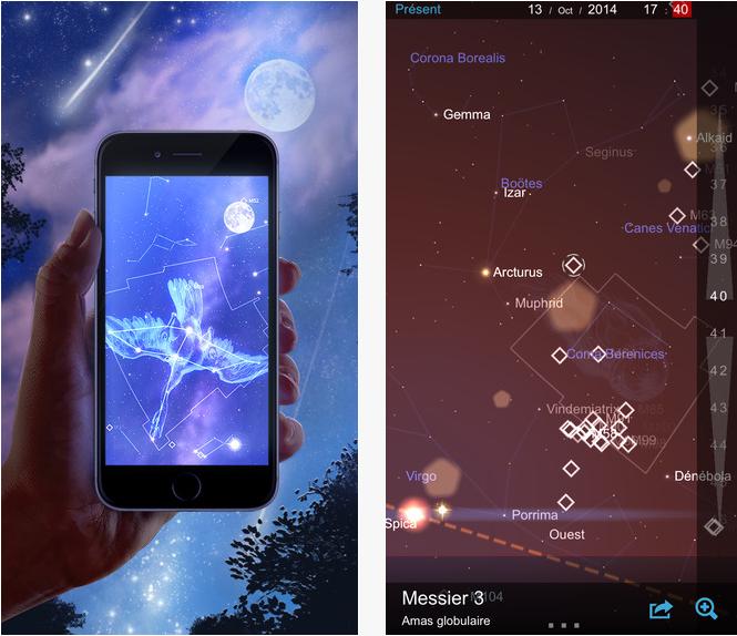 Capture d'écran Carte du Ciel iOS