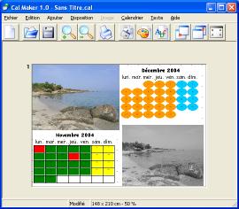 Capture d'écran CalMaker