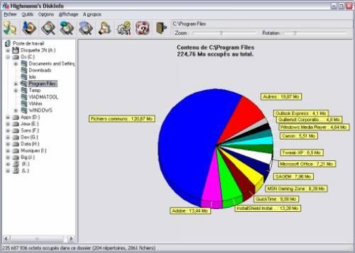 Capture d'écran DiskInfo