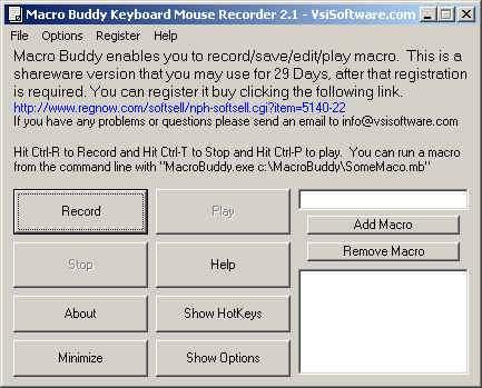 Capture d'écran Macro Keyboard Mouse Recorder Wizard