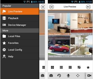 Capture d'écran GDMSS Lite Android