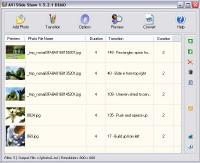 Capture d'écran AVI Slide Show