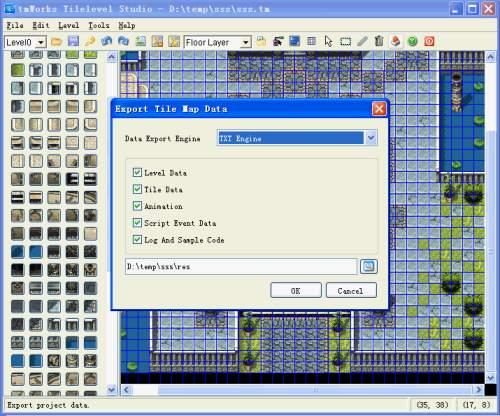 Capture d'écran tmWorks Tilelevel Studio
