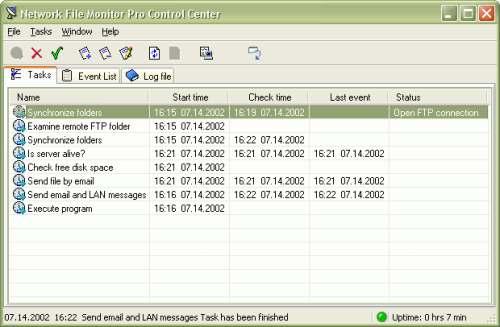 Capture d'écran Network File Monitor Pro