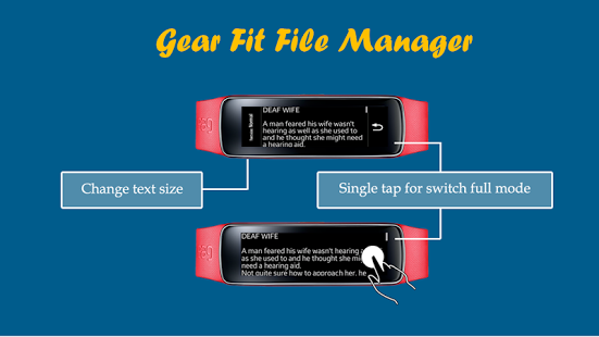 Capture d'écran Gear Fit File Manager