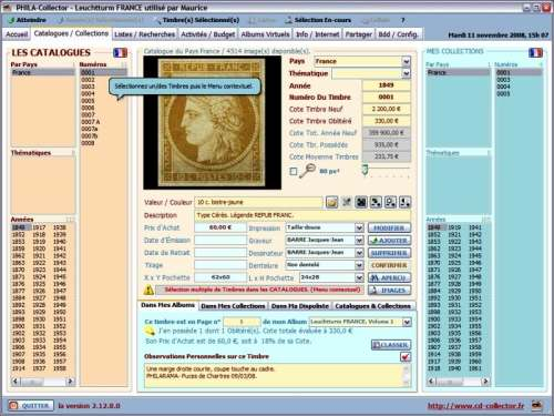 Capture d'écran PHILA-Collector