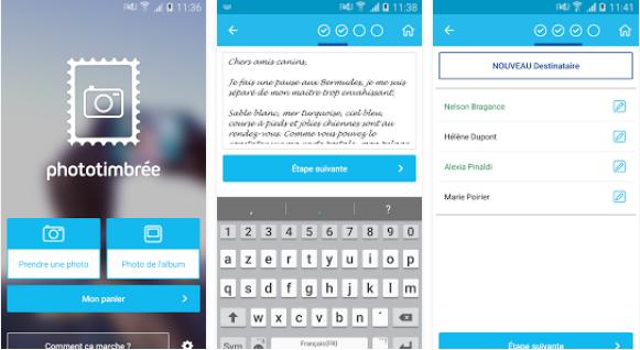 Capture d'écran Photo timbrée Android