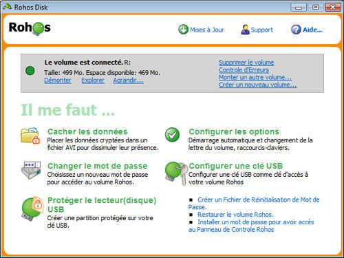 Capture d'écran Rohos Disk