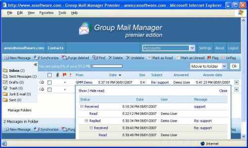 Capture d'écran Group Mail Manager Professional