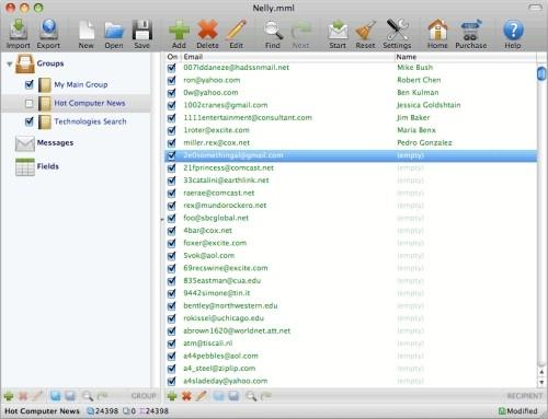 Capture d'écran Bulk Mac Mail for Panther