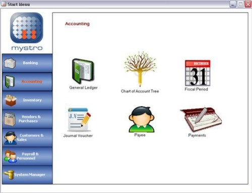 Capture d'écran Mystro Accounting