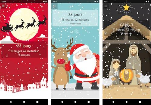 Capture d'écran Compte à rebours de Noël Android