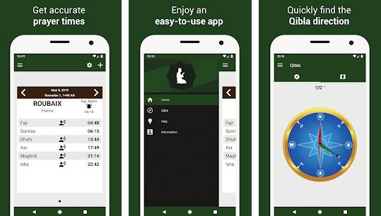 Capture d'écran Heures de prières: Qibla, Adhan iOS