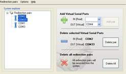 Capture d'écran Advanced COM Port Redirector