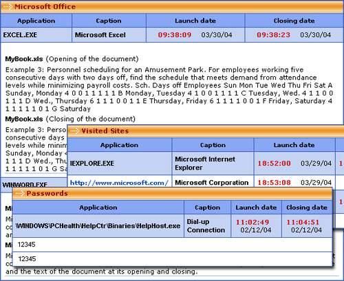 Capture d'écran PC Activity Monitor Lite
