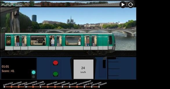 Capture d'écran Paris Métro Simulator