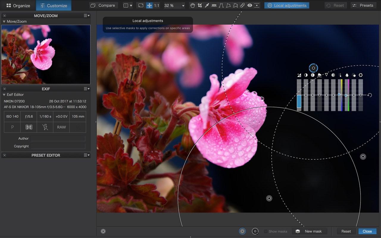 Capture d'écran DxO Photolab 3 Mac
