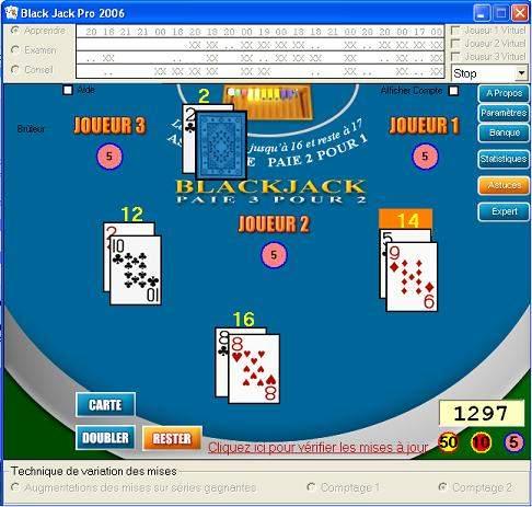 Capture d'écran Black jack pro 2006