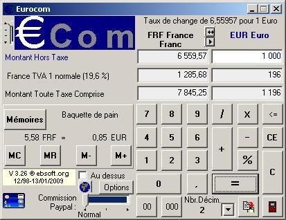 Capture d'écran Eurocom