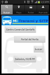 Capture d'écran Mi TransMi  y SITP Bogota