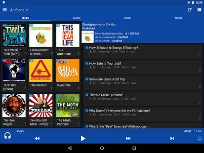 Capture d'écran DoggCatcher Podcast Player