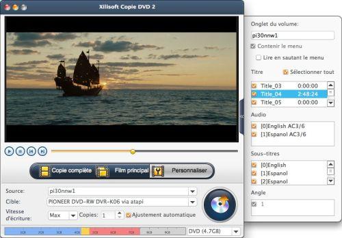 Capture d'écran Xilisoft Copie DVD pour Mac 2