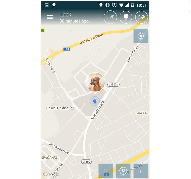 Capture d'écran Tractive GPS Pet Finder iOS