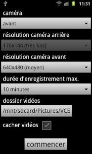 Capture d'écran Vidéo Caméra Espion PRO